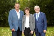 Die drei neuen Vorstandsmitglieder (von links): Fredy Winiger, Sibylle Boos-Braun und Markus Kronenberg. (Bild: PD)