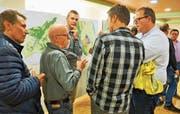 Der überarbeitete Zonenplan stiess an der Herbst-Veranstaltung der Gemeinde auf Interesse und bot Diskussionsstoff. Bild: PD