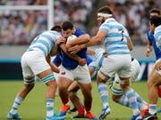 Frankreich und Argentinien, die sich am Samstag gegenüberstanden, sind zwei von ganz wenigen nicht-anglophonen Nationen, die im Rugby eine tragende Rolle spielen (Bild: KEYSTONE/AP/CHRISTOPHE ENA)