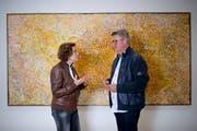 Faszination Aborigines-Kunst: das Sammlerehepaar Joëlle und Pierre Clément. Im Kunsthaus Zug zeigen sie ihre hochkarätige Kollektion. (Bilder: Maria Schmid, 26. September 2019)
