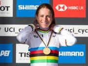Die bald 37-jährige Niederländerin Annemiek van Vleuten holte sich im WM-Strassenrennen Gold (Bild: KEYSTONE/EPA/VICKIE FLORES)