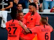 Kylian Mbappé und Neymar jubeln wieder gemeinsam (Bild: KEYSTONE/AP/BOB EDME)