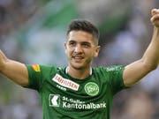 St. Gallens Stürmer Boris Babic erzielte gegen Thun das wegweisende Führungstor (Bild: KEYSTONE/GIAN EHRENZELLER)
