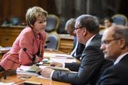 Bisher setzte sich Brigitte Häberli im Ständerat zusammen mit Roland Eberle (SVP) für den Thurgau ein. (Bild: Anthony Anex/Keystone)
