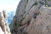 Der Wanderweg am Charren zwischen Nid- und Obwalden ist anspruchsvoll (Bild: PD)