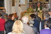 Der Gottesdienst wurde von Pfarrer Daniel Krieg zusammen mit Priester Don Lorenzo Campagnoli gestaltet. (Bild: Paul Gwerder, Altdorf, 28. September 2019)