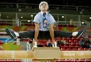 Donghua Li zeigt an einer Gala im Rahmen der Olympischen Spiele in Rio, dass er es immer noch drauf hat. (Bild: Dmitri Lovetsky/Keystone)