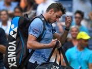 Abschied aus New York: Stan Wawrinka ist mit dem Erreichen des Viertelfinals grundsätzlich zufrieden, doch er will noch mehr (Bild: KEYSTONE/FR171690 AP/SARAH STIER)