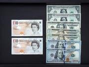 Das britische Pfund verliert immer mehr an Wert. (Bild: KEYSTONE/EPA/DAVID CHANG)