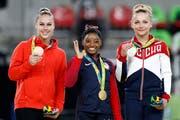 2016 gewann Giulia Steingruber mit Bronze im Sprung als erste Schweizer Turnerin eine Olympia-Medaille (Bild: Keystone).