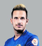 Daniel Follonier hier im FCL-Dress, als er 2017 von Sion nach Luzern wechselte. (Bild: PD, 21.09.2017)