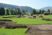 Die Wiese beim Werkhof wird während dreier Wochen fürs EJSF 2020 bereit gemacht. (Bild: Mea McGhee)