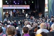 Für Wega-Präsident Heinz Schadegg einer der Höhepunkte des Wega-Programms. Der Gottesdienst am Sonntag mit sehr vielen Besuchern. (Bild: Mario Testa)