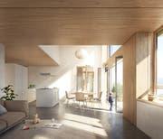 Ein Blick ins Innere der Wohnungen. (Visualisierung: PD / Filippo Bolognese)