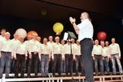Der Sängerbund Buchs, dirigiert von Christian Büchel, begeisterte das Publikum. (Bilder: Heidy Beyeler)