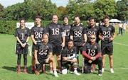 Erfolgreich: das Flag-Football-Team der Midland Bouncers. Bild: Lukas Amstutz (Luzern, 28. September 2019)