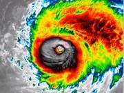 Im Auge des Hurrikan Lorenzo. (Bild: Screenshot Twitter)