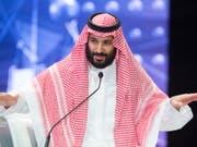 Der saudische Kronprinz Mohammed Bin Salman hat am Sonntag in einem Interview eine entschlossene Reaktion der internationalen Gemeinschaft gegen den Iran angemahnt. (Bild: KEYSTONE/EPA SAUDI ROYAL PALACE/ SAUDI ROYAL PALACE HANDOUT)