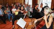 Das Trio Artemis mit Katja Hess (Violine), Myriam Ruesch (Klavier) und Bettina Macher (Violoncello). Bild: PD