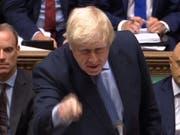 Angesichts von Boris Johnsons hartem Brexit-Kurs geht die britische Wirtschaft auf Rezessionskurs. (Bild: KEYSTONE/EPA UK PARLIAMENTARY RECORDING UNIT)