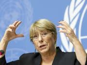 Zu wenig politischer Dialog und die Unterdrückung freier Meinungsäusserung - dies und weiteres beklagt die Uno-Hochkommissarin für Menschenrechte, Michelle Bachelet. (Bild: KEYSTONE/SALVATORE DI NOLFI)