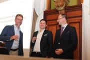 Plädieren für Lösungen mit gesundem Menschenverstand: Thomas Dufner, Angelo Fedi und Heinrich Speich (von links). (Bild: PD)