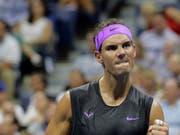 Hart gearbeitet, sicher gewonnen: Rafael Nadal hat auf dem Weg in den Halbfinal nur einen Satz abgegeben (Bild: KEYSTONE/AP/SETH WENIG)