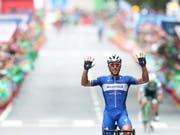 10. Grand-Tour-Sieg für den Belgier: Philippe Gilbert gewinnt in Bilbao die 12. Etappe der Vuelta (Bild: KEYSTONE/EPA EFE/JAVIER LIZON)
