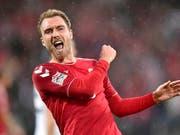 Christian Eriksen traf zweimal mittels Penalty (Bild: KEYSTONE/AP Ritzau Scanpix/BO AMSTRUP)