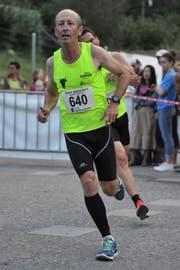 Andrew Kelly holte sich den Gesamtsieg bei den Volksläufern. (Bild: Urs Hanhart, Seedorf, 4. September 2019)