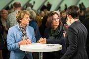 Konsternierte Gesichter: Margrit Kessler (GLP) und Yvonne Gilli (Grüne) nach der Niederlage im Wahlherbst 2015. (Bild: Benjamin Manser)
