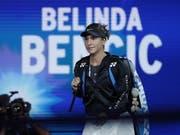 Stolz auf das erstmalige Erreichen eines Grand-Slam-Halbfinals: Für Belinda Bencic war das US Open trotz der Enttäuschung am Schluss ein sehr gutes Turnier (Bild: KEYSTONE/EPA/JOHN G. MABANGLO)