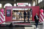 Im April testete Valora einen ersten kassenlosen Shop im Zürcher HB. (KEYSTONE/Walter Bieri)