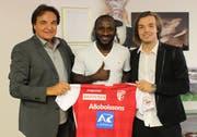 Ex-FCB-Stürmer Seydou Doumbia wechselte im Sommer zum FC Sion. Quelle:Twitter