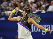 Zum Verzweifeln: Belinda Bencic verpasste in ihrem ersten US-Open-Halbfinal zu viele Chancen (Bild: KEYSTONE/AP/CHARLES KRUPA)