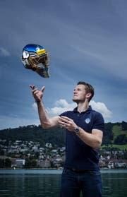 Leonardo Genoni ist in Zug angekommen. (Bild: Stefan Kaiser, Zug, 5. August 2019)