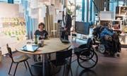 Das Paraforum im Paraplegikerzentrum gibt Einblick in das Leben von Menschen im Rollstuhl. Bild: Boris Bürgisser (Nottwil, 5. September 2019)