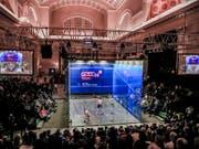 Die Sportart Squash strebte zuletzt vergeblich die Aufnahme ins olympische Programm an (Bild: KEYSTONE/EPA/TANNEN MAURY)