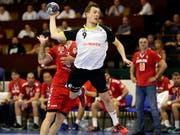 Der Schweizer Nationalspieler Marvin Lier war mit 12 Toren der Matchwinner beim 33:24-Sieg von Pfadi Winterthur im EHF-Cup (Bild: KEYSTONE/EPA/ANDREJ CUKIC)