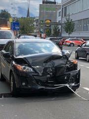 Eines der am Unfall beteiligten Autos. (Bild: Luzerner Polizei, Emmenbrücke, 7. September 2019)