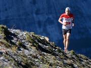 Robbie Simpson wiederholte am Jungfrau-Marathon seinen Vorjahressieg (Bild: KEYSTONE/ANTHONY ANEX)