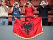 Die Albaner hörten in Frankreich die falsche Hymne (Bild: KEYSTONE/ENNIO LEANZA)