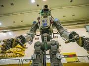Weltraum-Roboter Fedor hat alle Arbeiten nach Plan erledigt. (Bild: KEYSTONE/AP Roscosmos Space Agency Press Service)