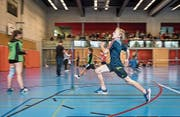 In der Sporthalle Schönenbüel wurde gesprintet, was das Zeug hält. (Bild: Christian H. Hildebrand, Unterägeri, 8. September 2019)