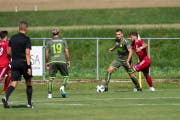Der SC Brühl spielte am Samstag auswärts gegen den FC Bavois - und gewann sehr überlegen mit 3:0. (Bild: PD)