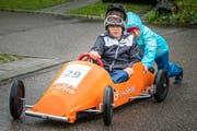 Früh übt sich, wer ein cooler Rennfahrer sein will. (Bild: Christian H. Hildebrand, Steinhausen, 8. September 2019)