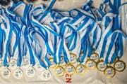 Die Medaillen liegen bereit. (Bild: Christian H. Hildebrand, Unterägeri, 8. September 2019)