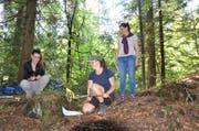 Am Kurstag erzählten die Teilnehmerinnen eine Waldgeschichte mit Konfliktlösung.