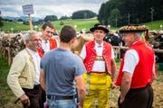 Viehschau auf der Rietwies in Häggenschwil. (Bild: Urs Bucher)