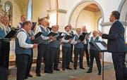 Einer von drei Chören mit Bestnote: der Männerchor Märstetten in Aktion. (Bild: Andreas Taverner)